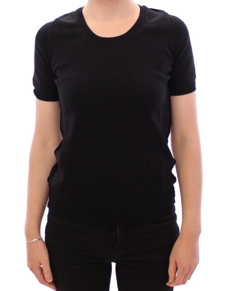 Dolce & Gabbana Women's Crewneck Cotton T-Shirt Black MOM11141 - IT48|XXL