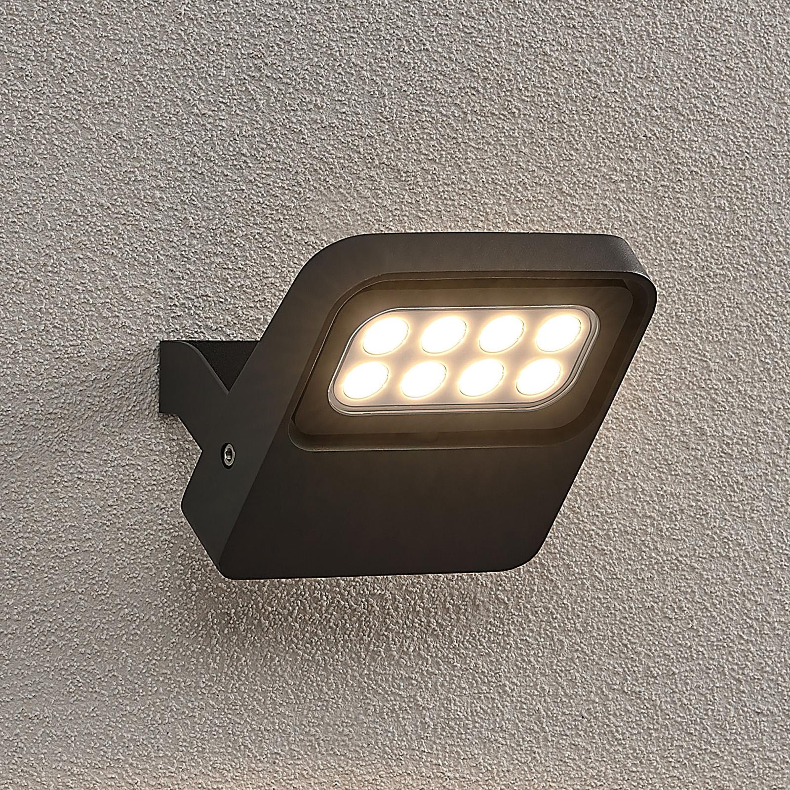 Lucande Kyrilo -LED-ulkokohdevalo, 8 LEDiä