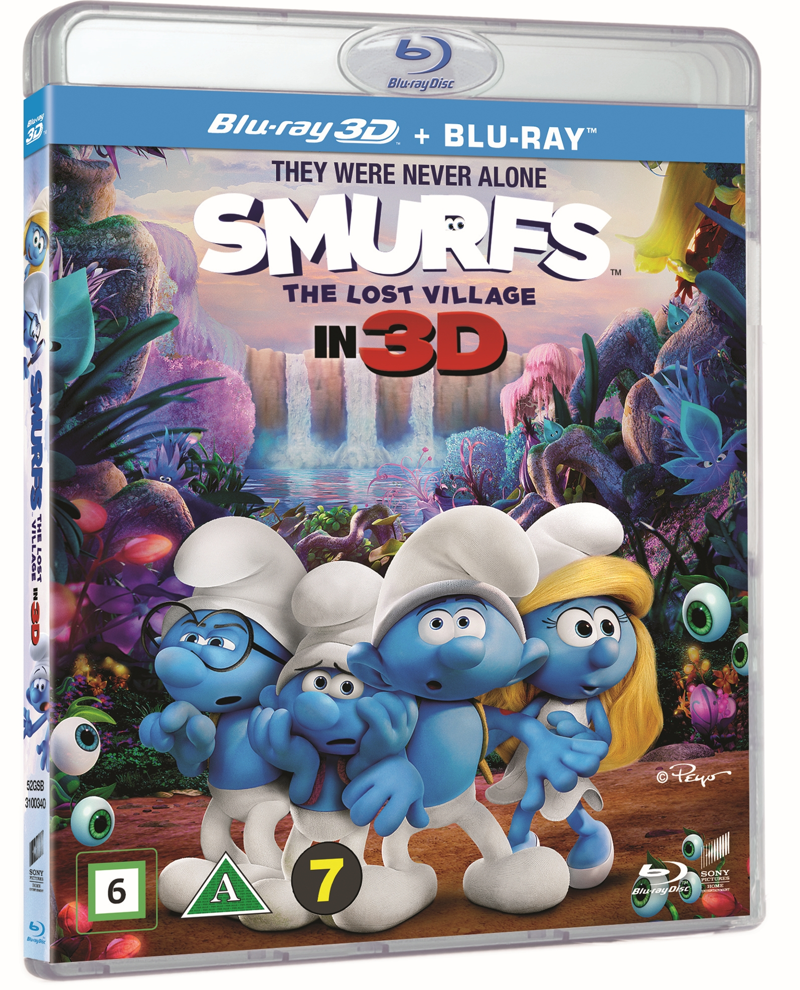 Smølferne – Den hemmelige landsby (3D Blu-ray + Blu-ray)