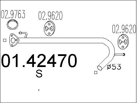 Pakoputki MTS 01.42470