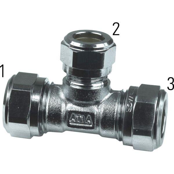 Gelia 3006129012 Klemringkobling T-rør 12 x 10 mm, redusert
