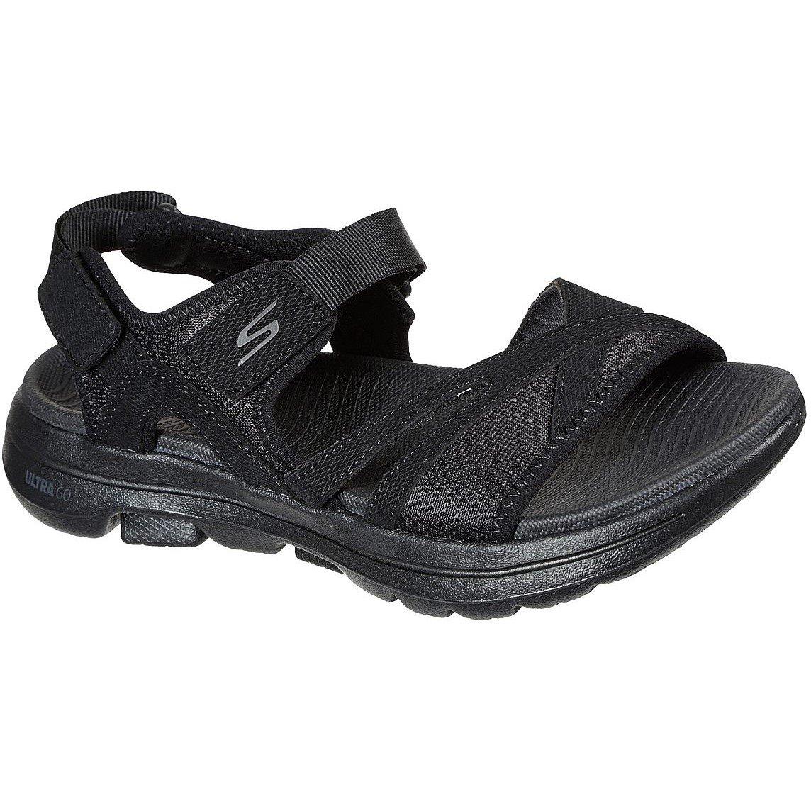 Skechers Women's Go Walk 5 Restored Summer Sandal Black 32155 - Black 7