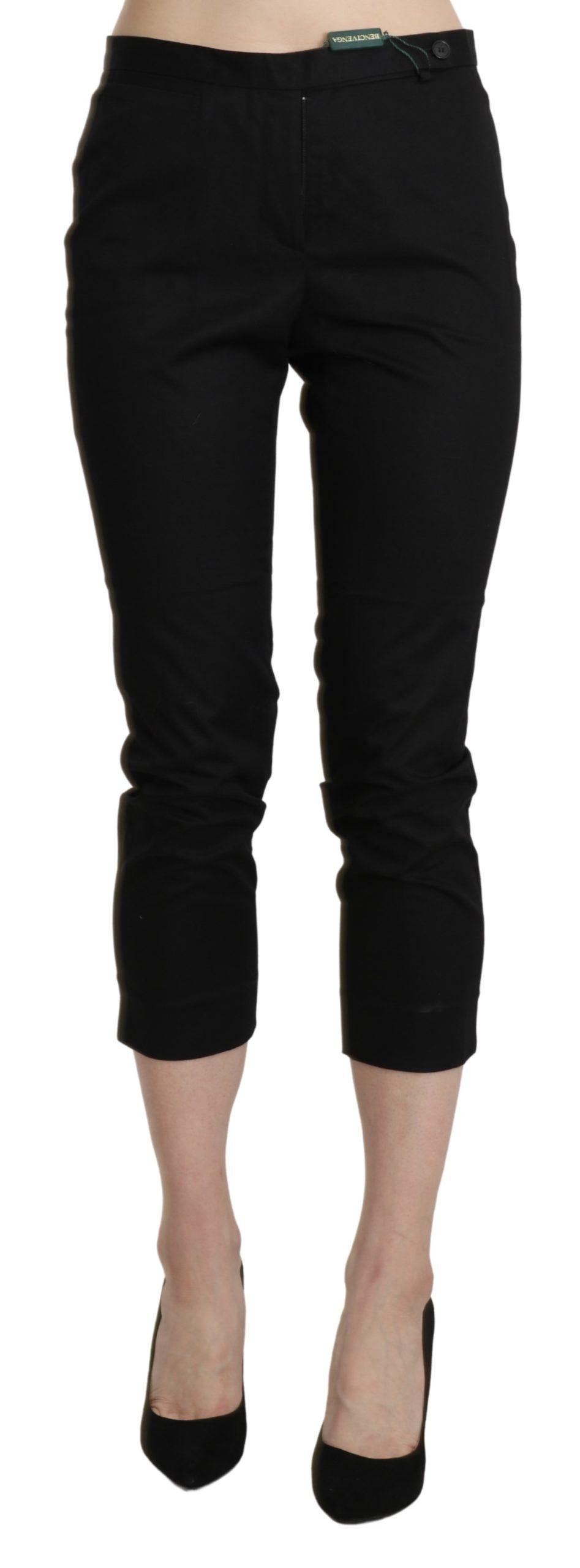 BENCIVENGA Women's High Waist Skinny Trouser Black PAN71332-44 - IT44 L