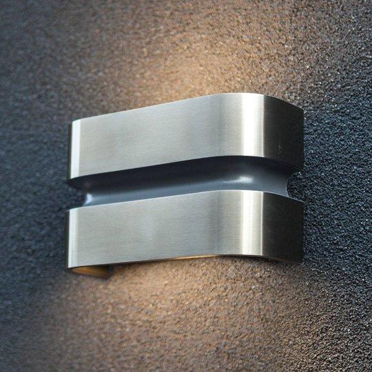 Maya utendørs LED-vegglampe av rustfritt stål