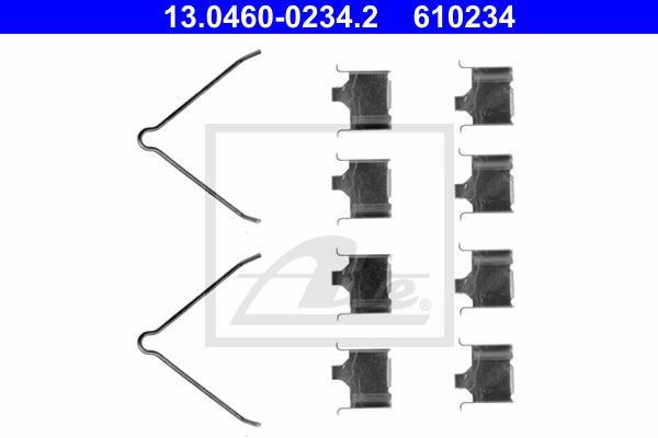 Tarvikesarja, jarrupala ATE 13.0460-0234.2