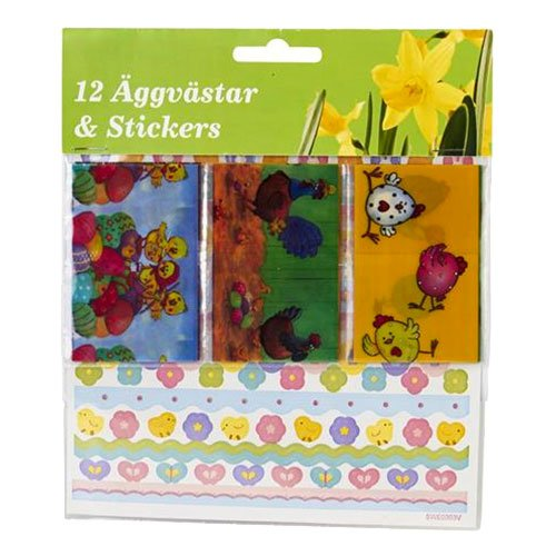 Äggvästar & Stickers Påsk - 12-pack