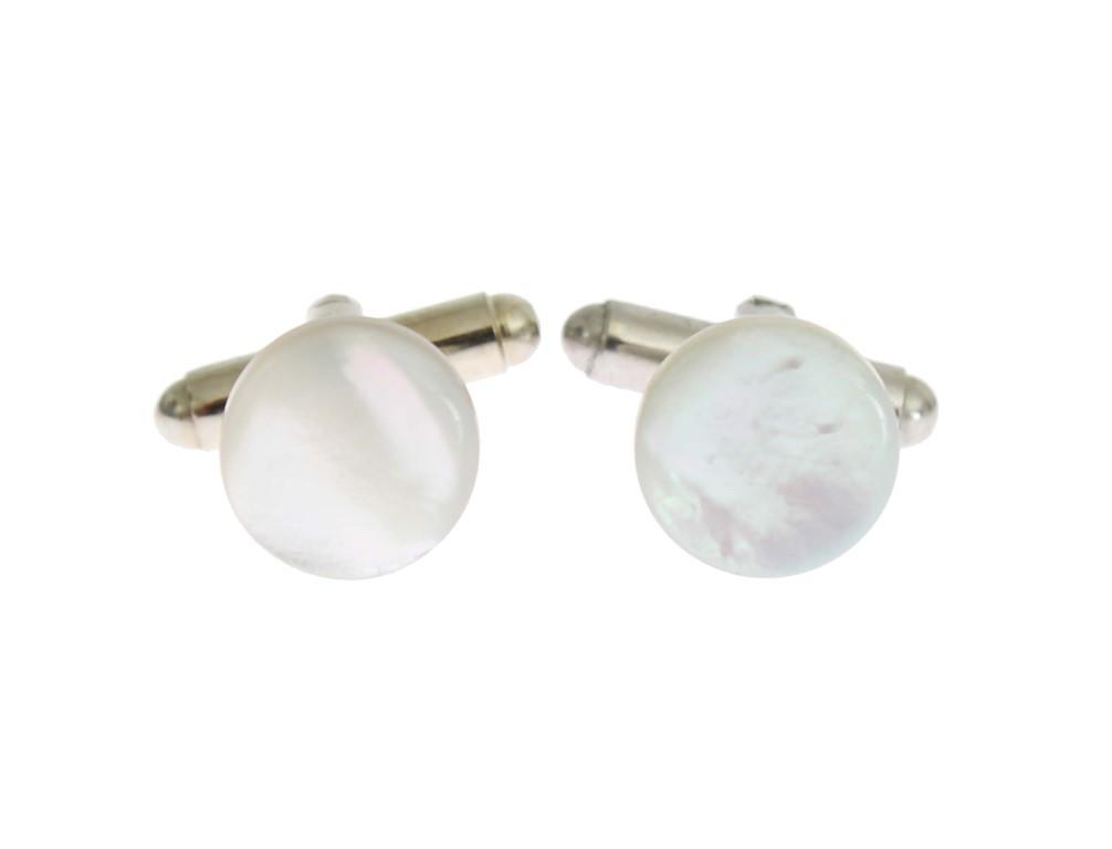 Dolce & Gabbana Men's Brass Round Cufflinks Silver SIG31525