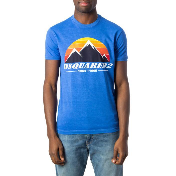 Dsquared Men's T-Shirt Light Blue 175420 - light blue XS