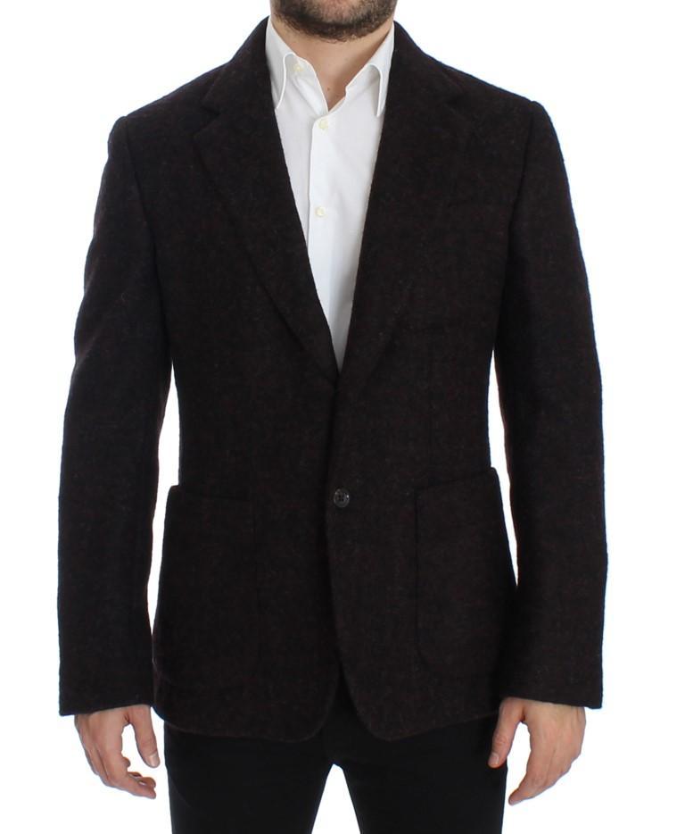 Dolce & Gabbana Men's Alpaga two button Blazer Bordeaux SIG12287 - IT52 | XL