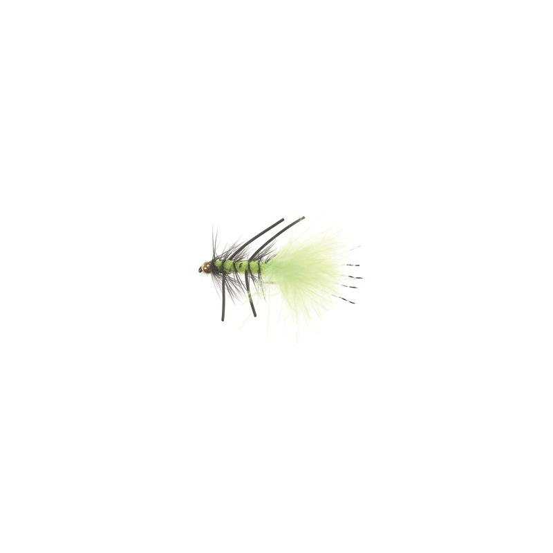 Rubber Leg Wooly Bugger #8 Fluo Green Kjøp 12 fluer få gratis flueboks