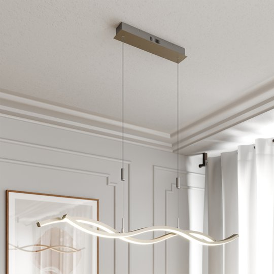 Lucande Mairia -LED-riippuvalaisin, korkeudensäätö