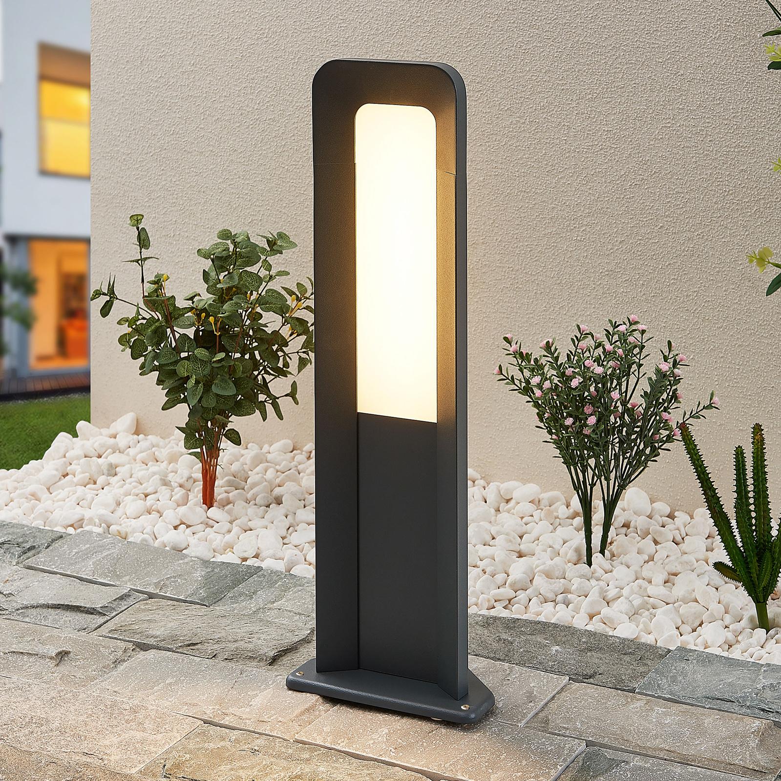 Lucande Secunda -LED-pollarivalaisin, korkeus 50cm