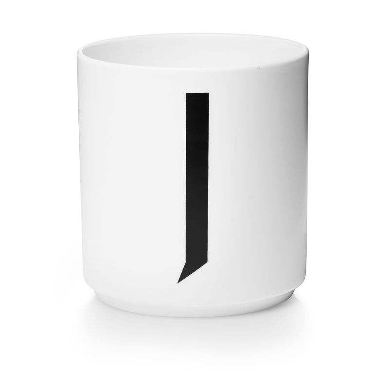 Design Letters - Personal Porcelain Cup J - White (10201000J)