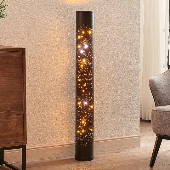 Lindby Lengla -LED-lattiavalo, musta