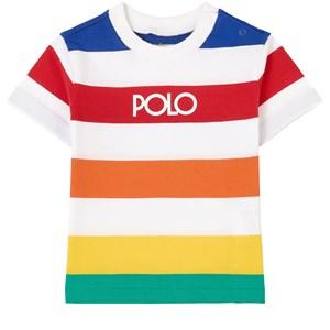 Ralph Lauren Stripe T-shirt Vit 3 mån