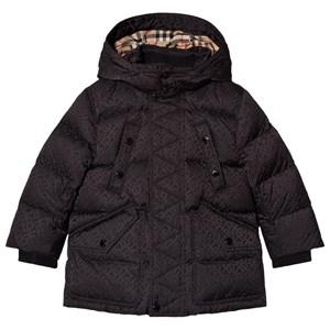 Burberry Ryker Mono Long Line Puffer Coat Kappa Svart 3 years