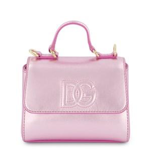 Dolce & Gabbana Metallic Logo Handväska Rosa one size
