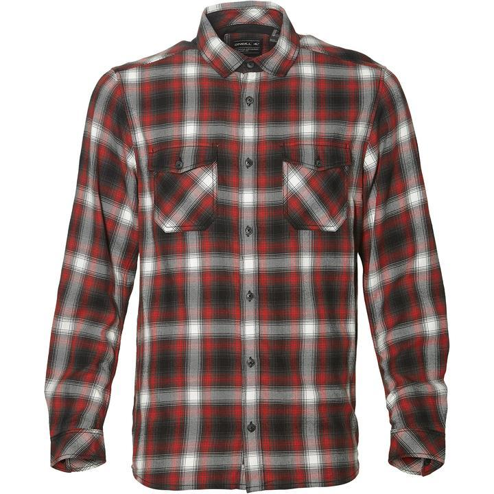 O'Neill Men's Violator Flannel Shirt Various Colours 8719403503347 - S Red Grey