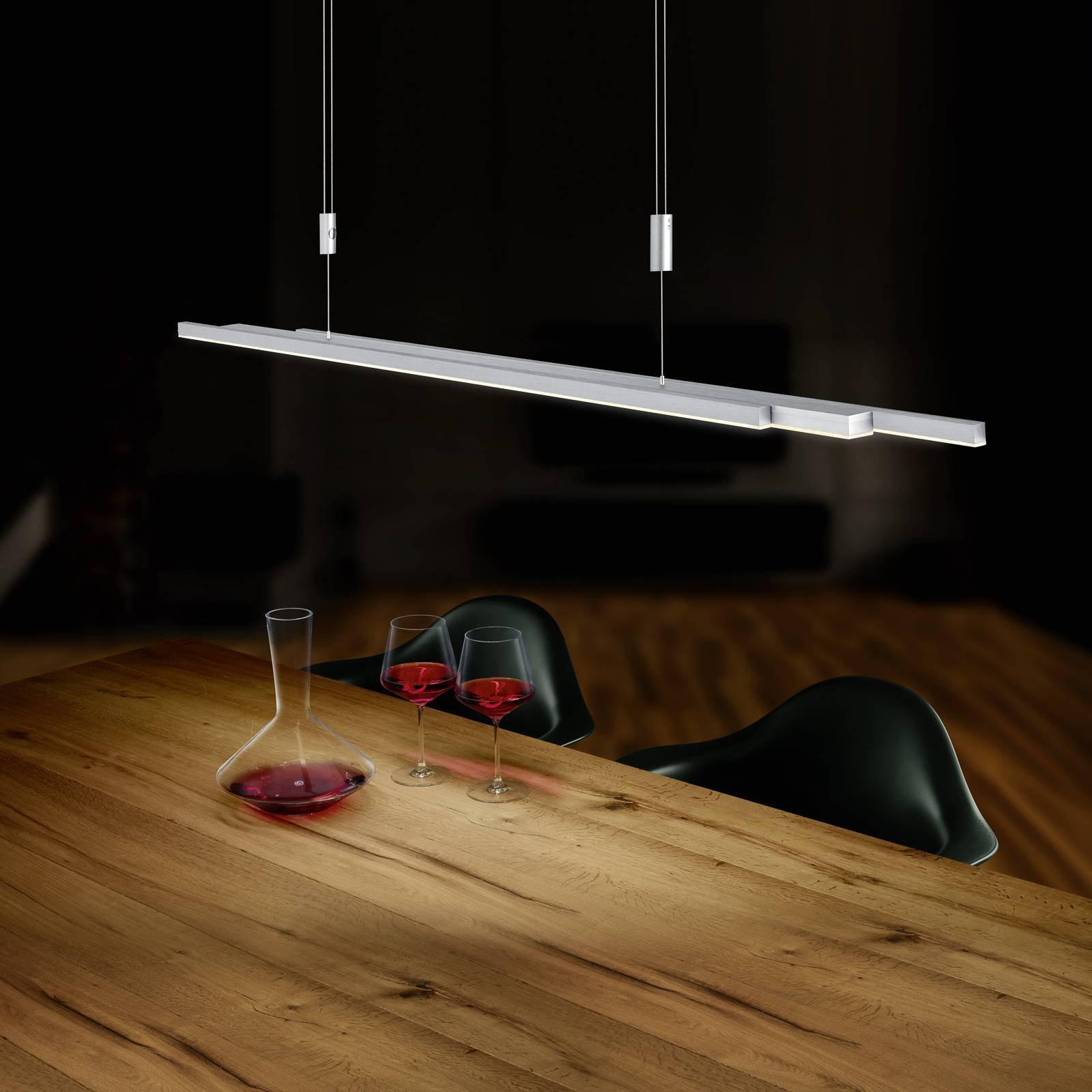 BANKAMP L-lightLINE LED-hengelampe, matt nikkel