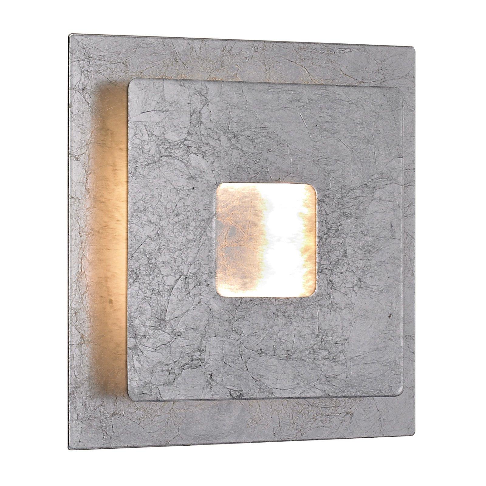 LED-vegglampe Ennis in sølvbladstil