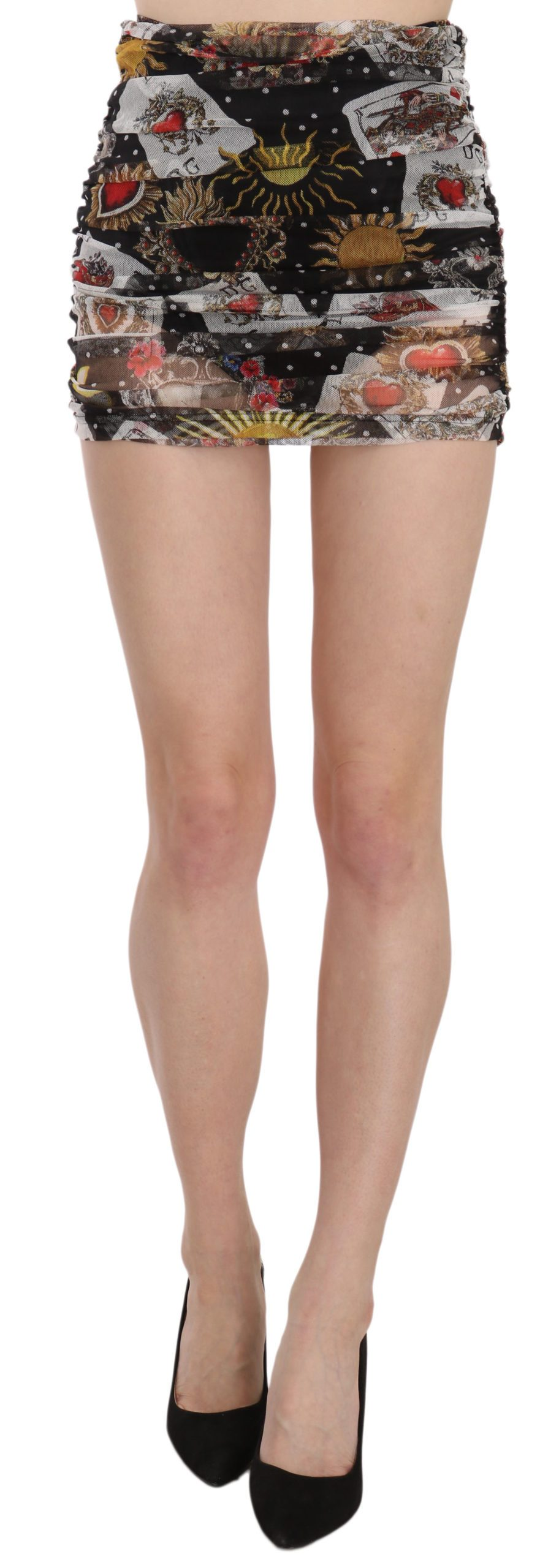 Dolce & Gabbana Women's Deck Of Cards Micro Skirt Black SKI1328 - IT40 S
