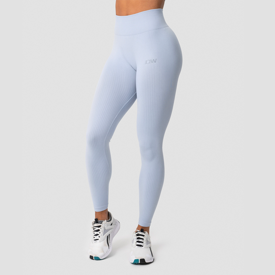 Ribbed Define Seamless Tights, Cloudy Blue