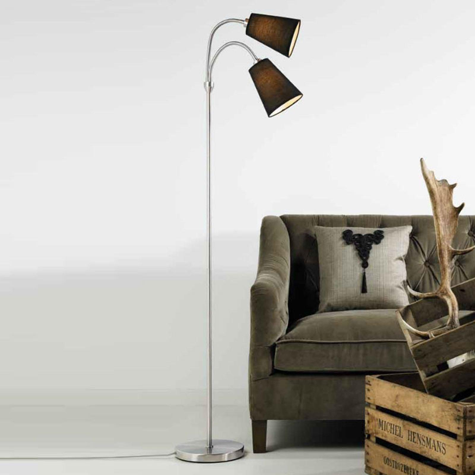 Lelio gulvlampe med 2 lys og fleksible armer