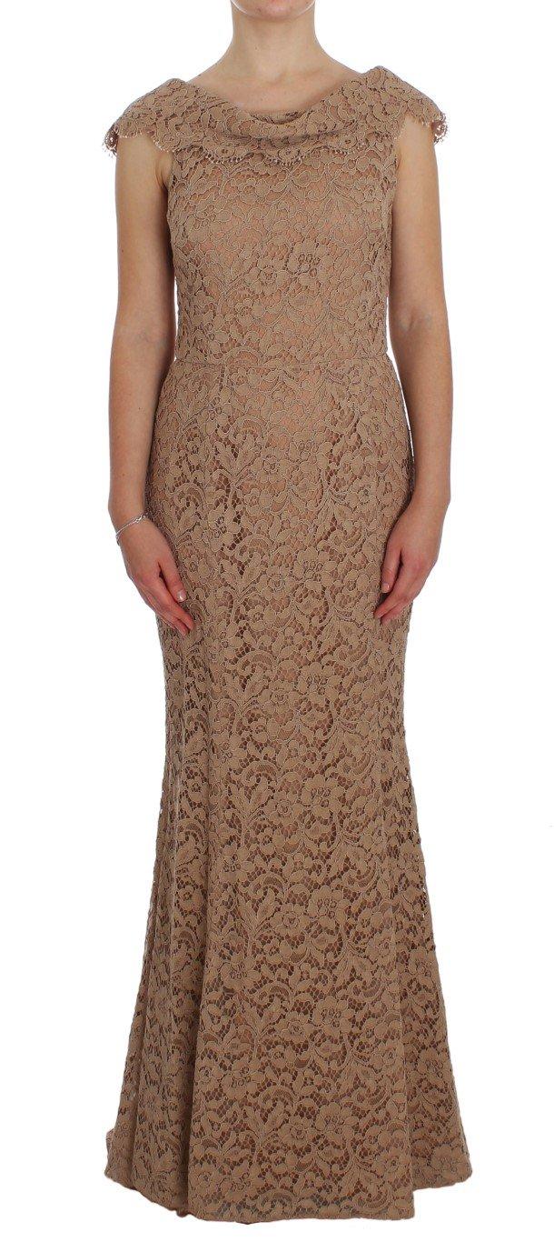 Dolce & Gabbana Women's Floral Lace Full Length Sheath Dress NOC10122 - IT44|L