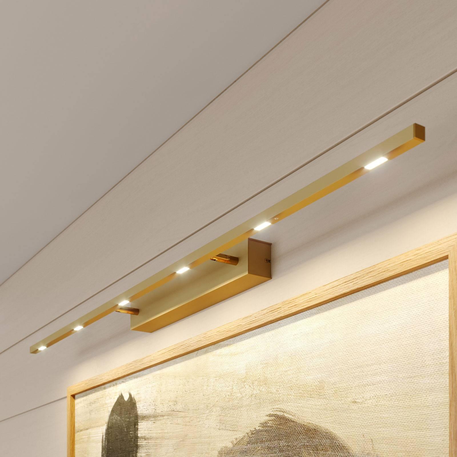 Lucande Tolu tauluvalaisin, matta messinki, 119 cm