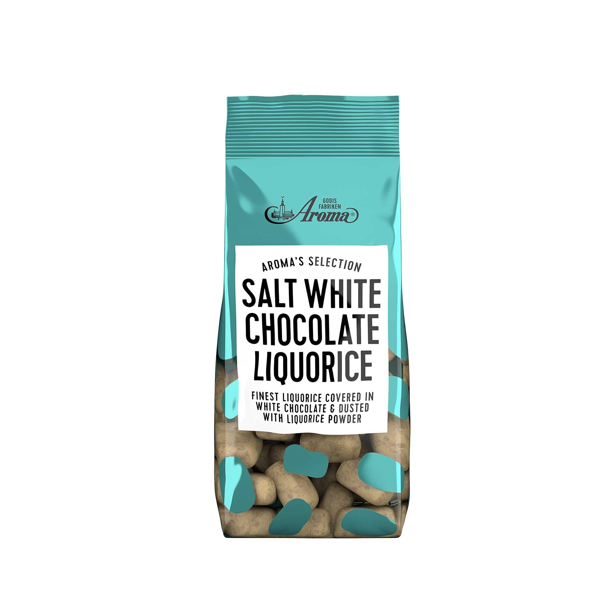 Aroma Selection, Salt White Chocolate Liquorice 100g