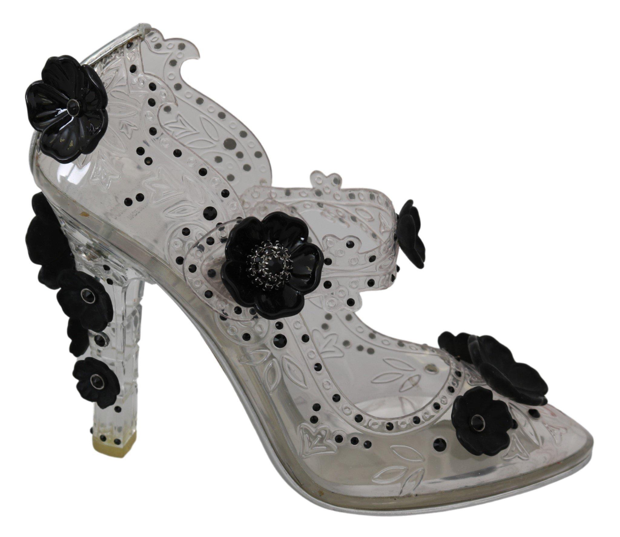 Dolce & Gabbana Women's Crystal CINDERELLA Pumps Transparent LA7343 - EU39/US8.5