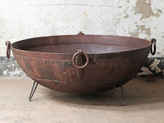 Kadai Fire Bowl 120cm Brown