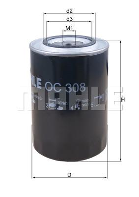 Öljynsuodatin KNECHT OC 308