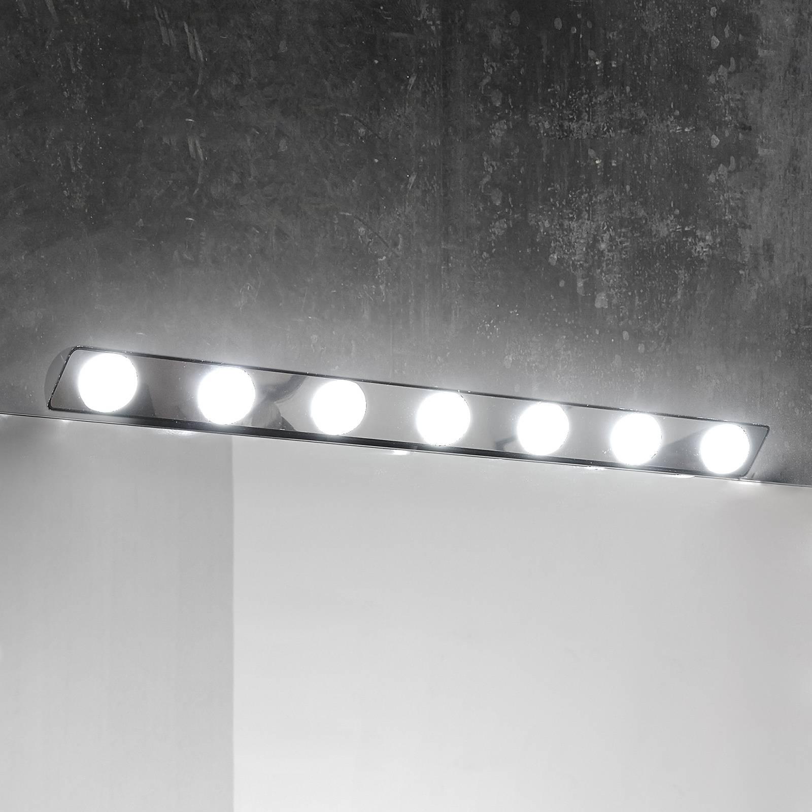 Hollywood-LED-peilivalaisin, 85 cm 7-lamppuinen