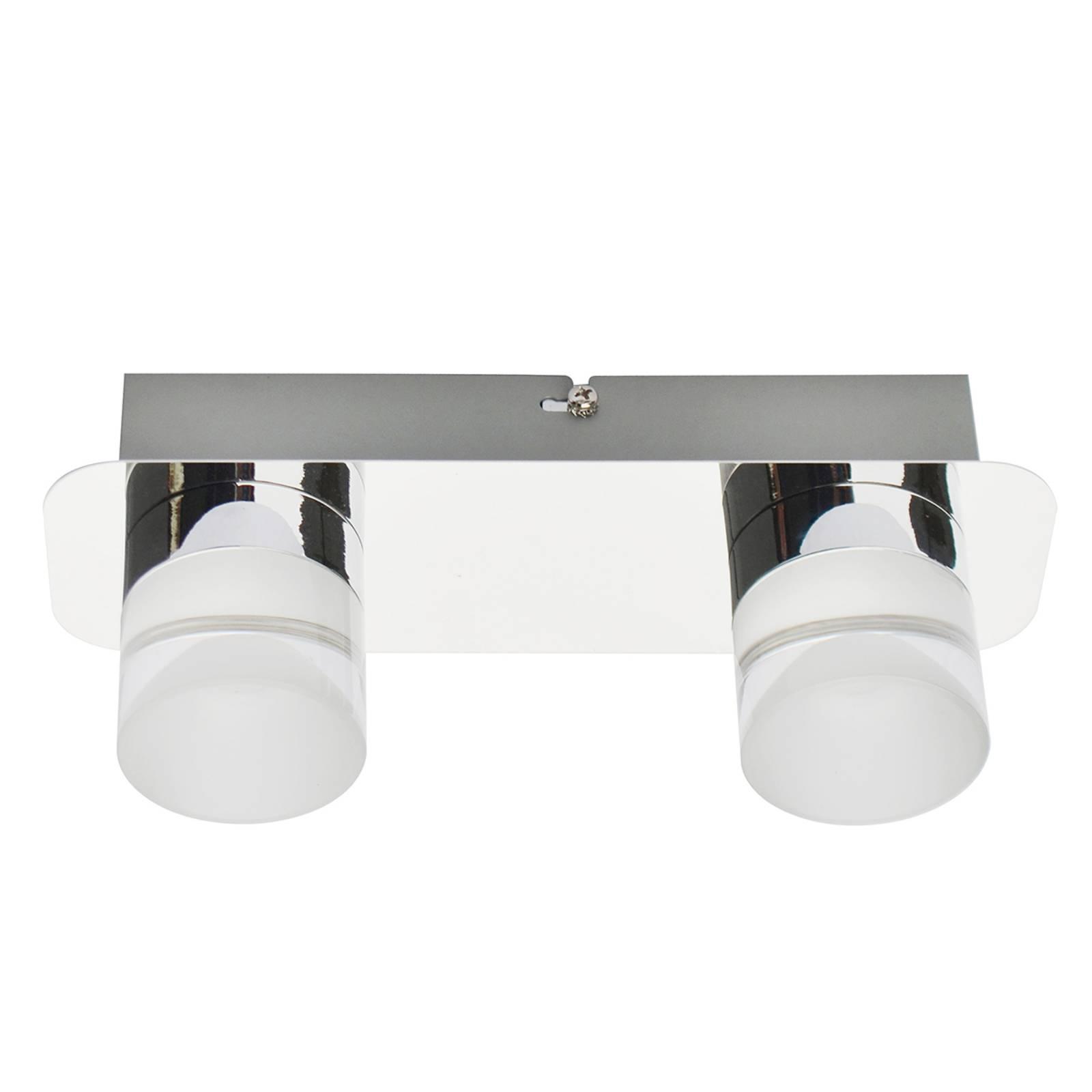LED-kattovalaisin Stefanie, 2-lamppuinen, kromi