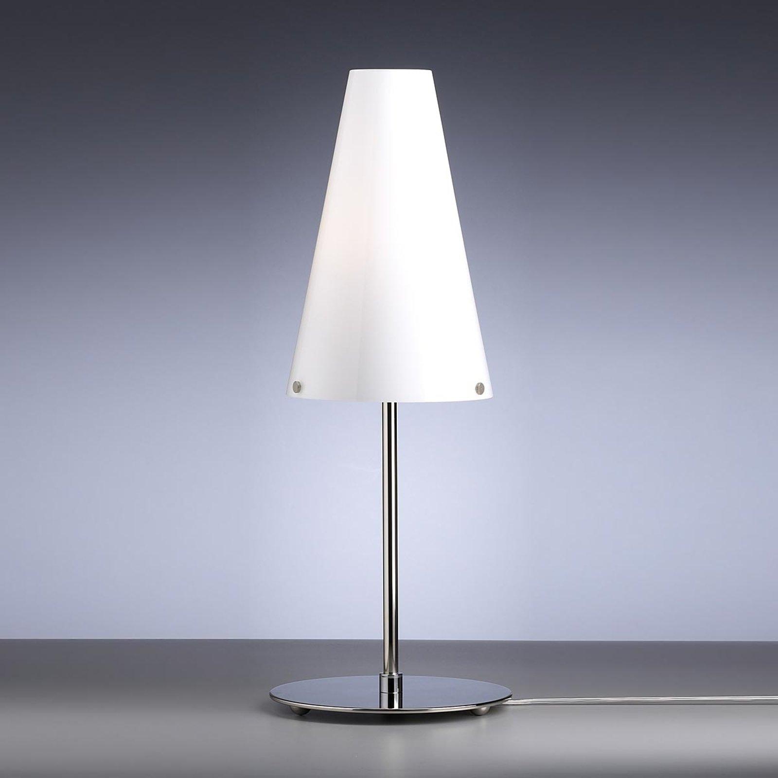 Bordlampe av Walter Schnepel opalhvit