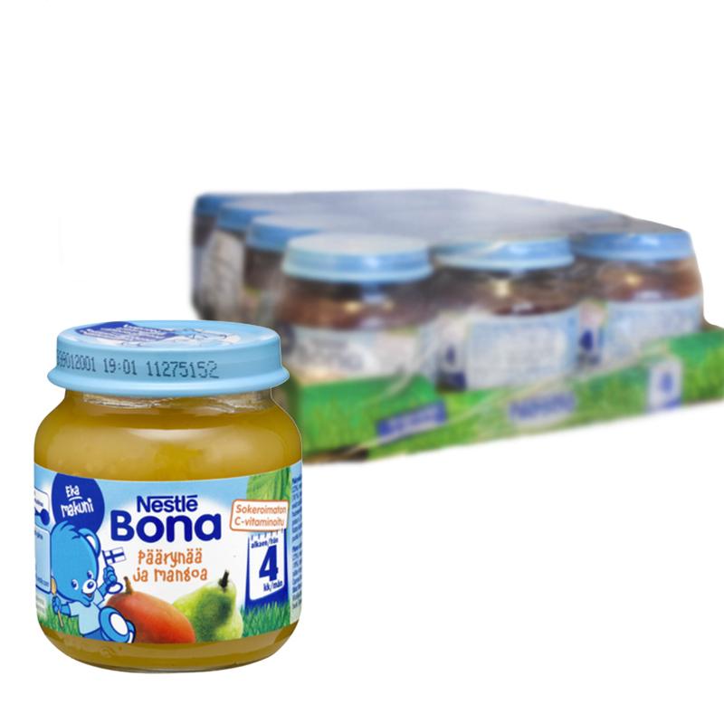 Laatikollinen Lastenruokaa Päärynää & Mangoa 12kpl - 29% alennus