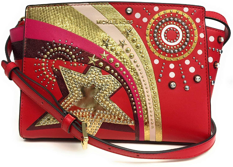 Michael Kors Women's Selma Crossbody Bag Red MK29299