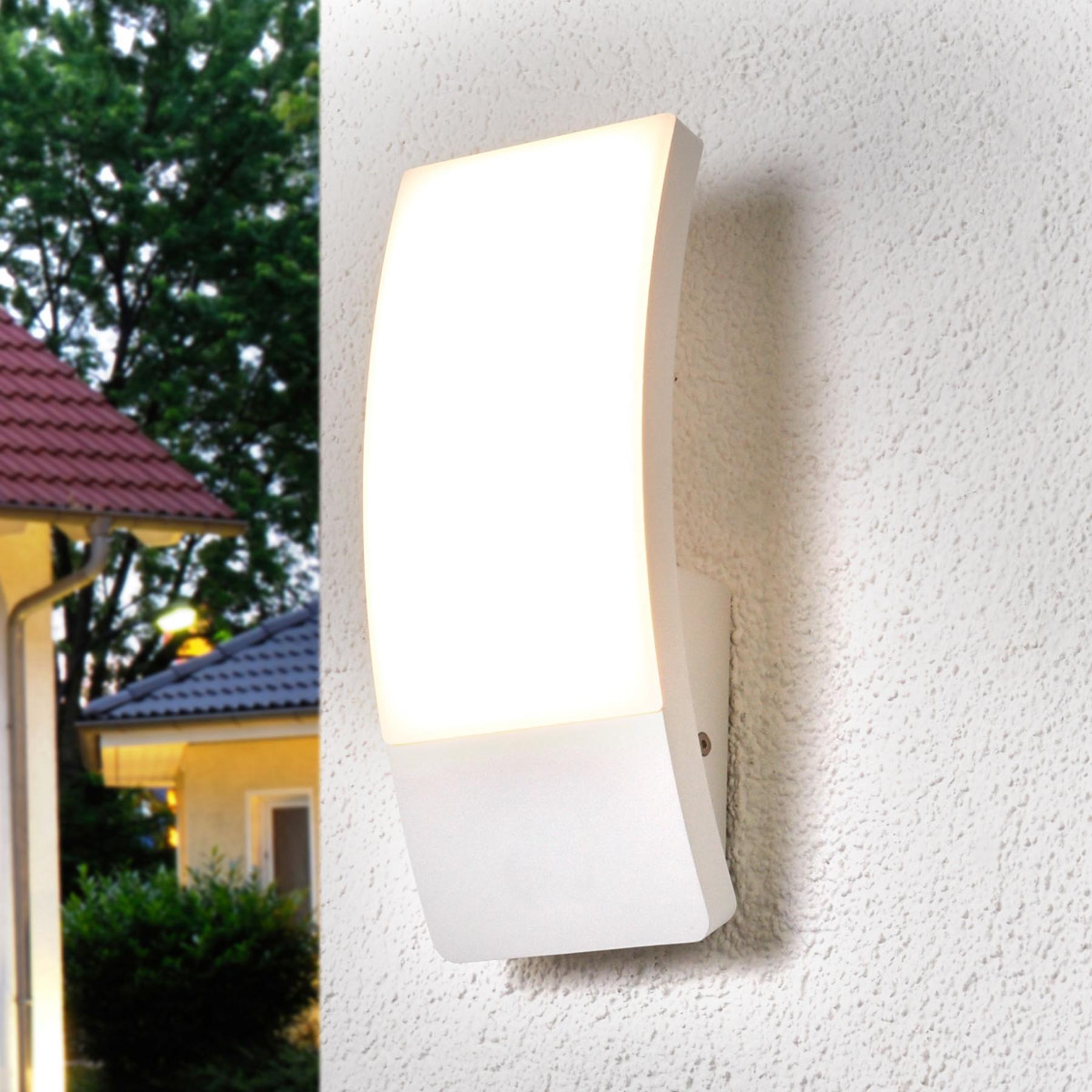 Valkoinen kupera Siara-LED-ulkoseinävalaisin