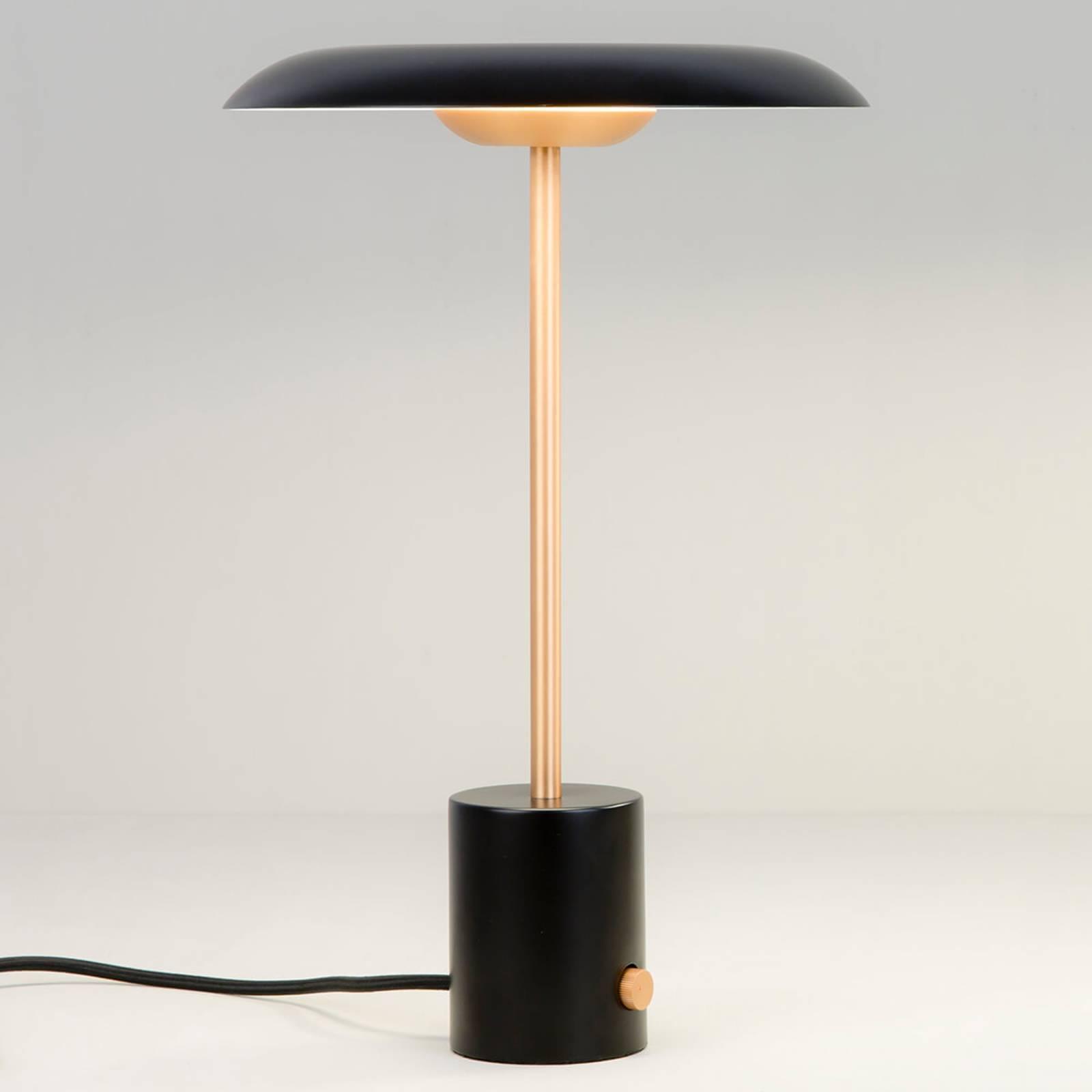 LED-pöytälamppu Hoshi himmentimellä, musta-kupari