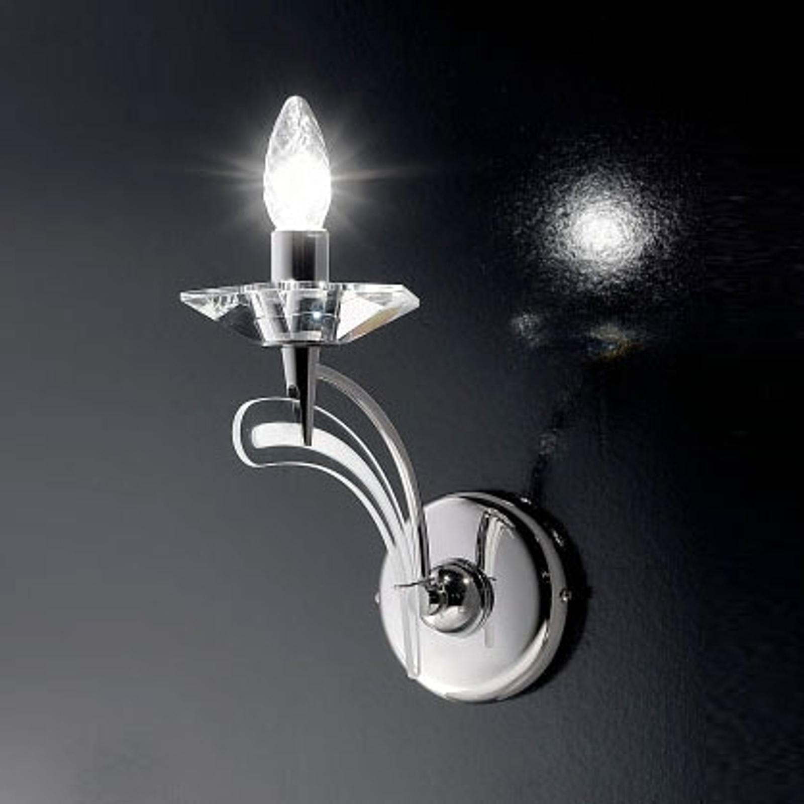 Seinävalaisin ICARO 1 lamppu, kristallilasi, kromi