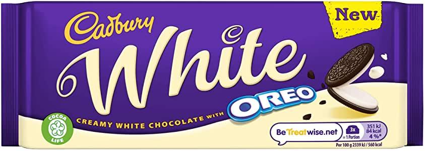 Cadbury Oreo White Chocolate 120g