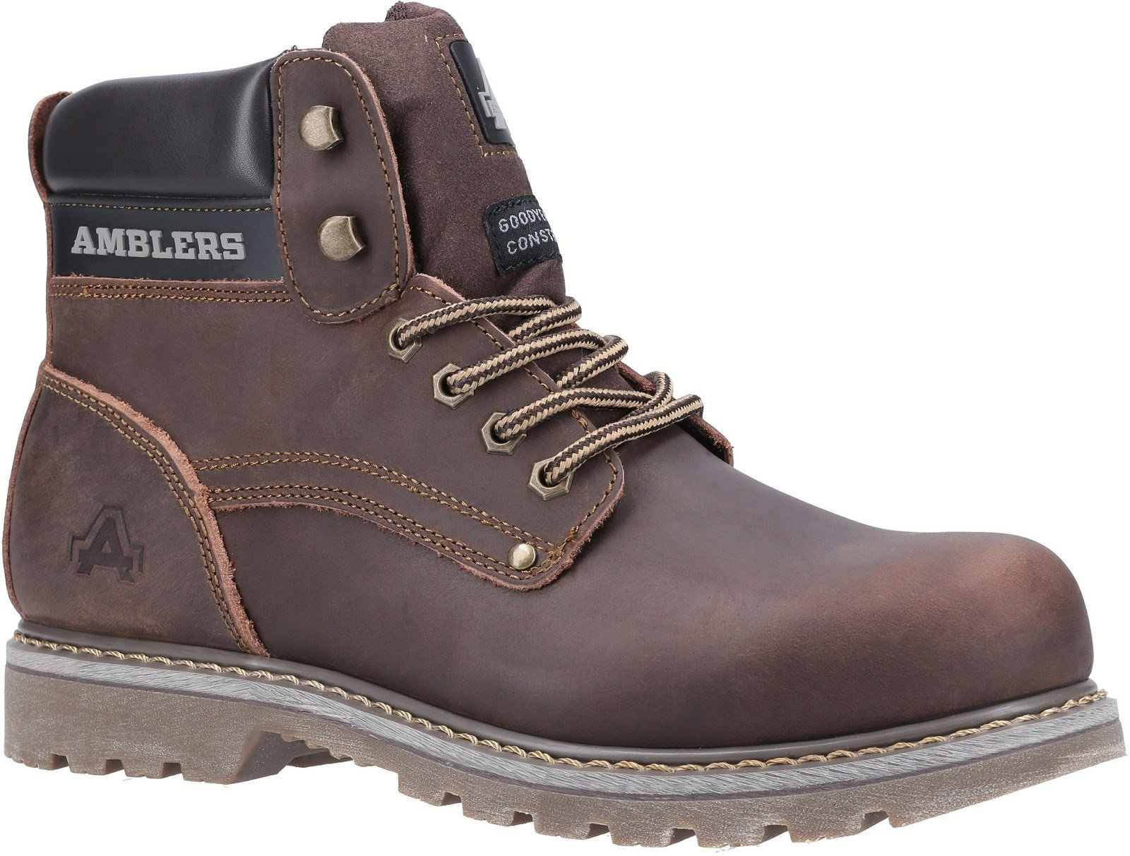 Amblers Men's Dorking Casual Lace Up Boot Brown 19515 - Brown Crazy Horse 6