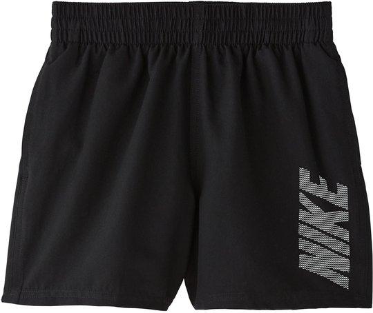 Nike Swim Logo Solid Badeshorts, Black M