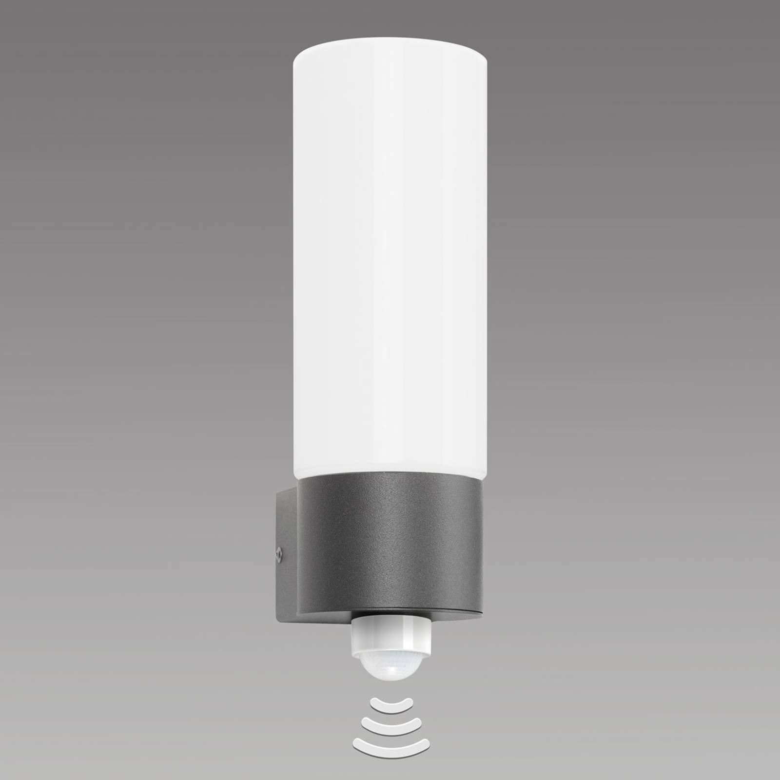 Liten Gray utendørs vegglampe med sensor