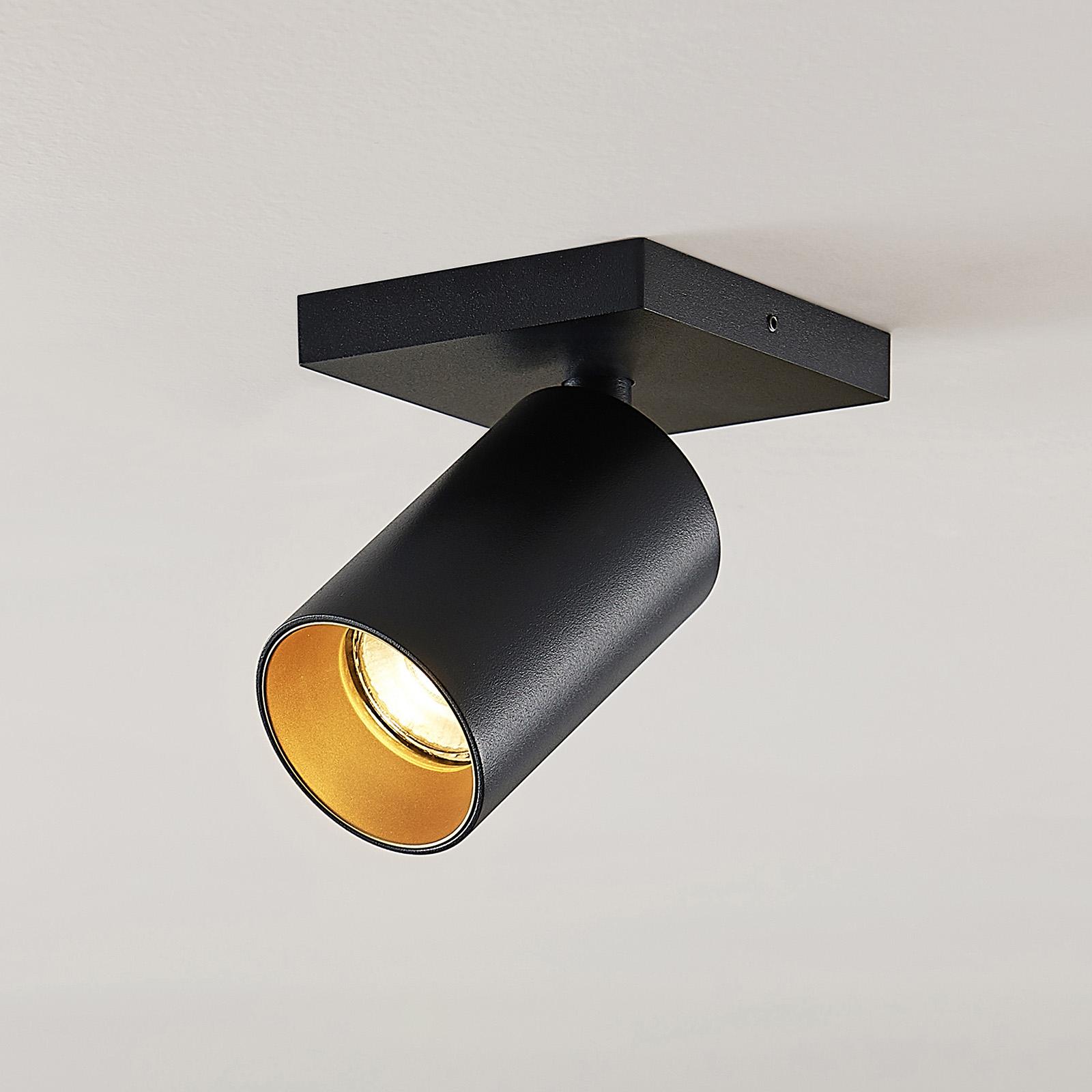 Kohdevalo Brinja GU10 musta 1 lamppu kulmikas