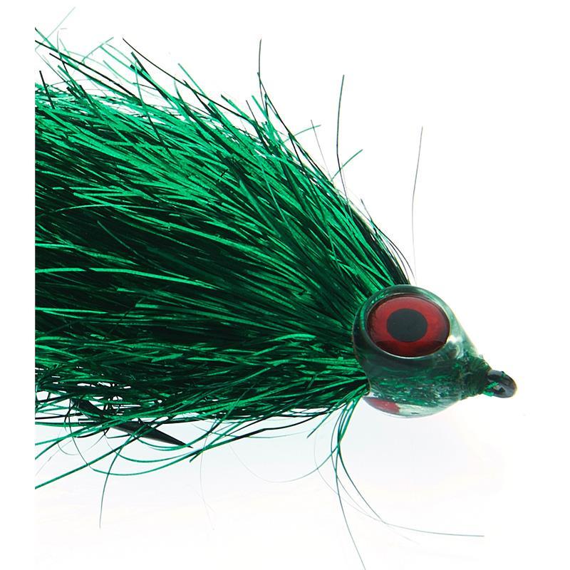 Fishmadman Pike Fly Single Hook 5/0 Green Flash