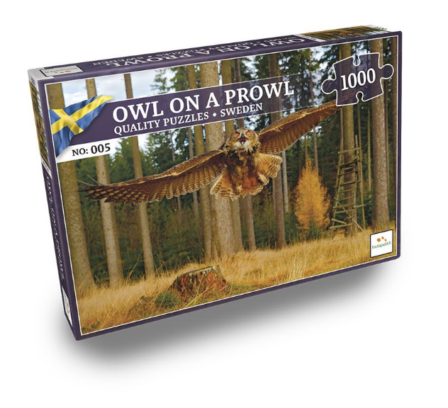 Nordic Quality Puzzles - SE:005 - Owl on a Prowl (1000 pieces) (LPFI7634)