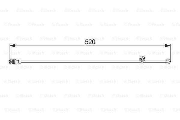 Jarrupalan kulumisen ilmaisin BOSCH 1 987 474 571