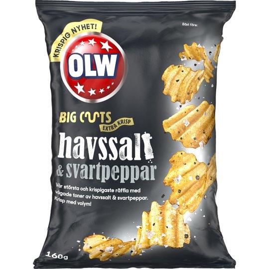 Chips BigCuts Havssalt Svartpeppar - 32% rabatt